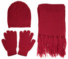 Knitted Winter Set - Beanie, Gloves and Scarf - High Quality with Special Price