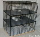 Rabbit cage Indoor LARGE BUNNY CONDO, deluxe hutch, pet pen smooth & soft floors