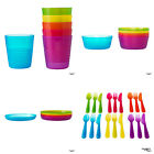 IKEA KALAS Childrens Baby Plastic Cups Bowls Cutlery Plates BRAND NEW