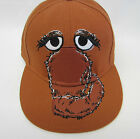 Adult Mr. Snuffleupagus Snuffy Fitted Cap Hat Brown Sesame Street