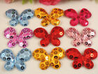 "60PCS Padded Sequin 1.7 ""Butterfly Appliques / craft 6Colors-Pick color"
