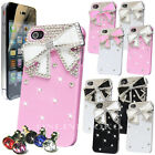 FOR APPLE iPHONE 4 4G 4S LUXURY 3D BOW CRYSTAL DIAMOND CASE BLING HARD COVER