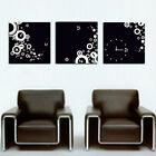 Black and White Art Decorative Canvas Print Set Of 3 high quality - Framed