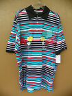 Akademiks Black Board Beach Squad Hawaii 50 Striped Urban Wear Polo Shirt New