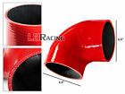 "RED Elbow 3.5"" 89mm 4-ply Silicone Coupler Hose Turbo Intake Intercooler Ponti"