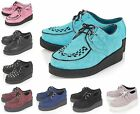 NEW KIDS INFANT GIRLS BLACK SUEDE STITCH TRIM LACE UP CREEPERS SHOES SIZES 10-2