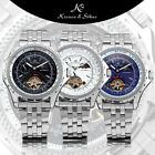 KS Tourbillion Moonphase Auto Mechanical Stainless Steel Mens Sport Watch + Box