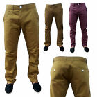 New Mens Gents Designer Classic Chino Jeans Cotton Trousers Pants Uk Waist 30-40