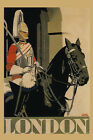 Soldier Black Horse London England Travel Tourism Vintage Poster Repro FREE SH