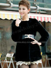 100% Real Genuine Deluxe Knitted Mink Fur Clothing Coat Jacket Long Winter New