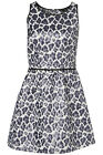 TOPSHOP Stunning Metallic Animal Skater Party Dress Size 10 12 BNWT GN1