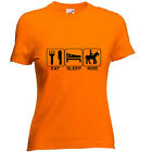 EAT~SLEEP~RIDE Horse Riding t shirt  Ladies T shirt Lots of Sizes/colours