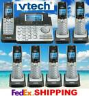 VTECH DS6151 DECT 6.0 2-LINE CORDLESS PHONE + 6 CORDLESS HANDSETS - NEW