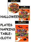 SPOOKY HALLOWEEN TABLE DECORATIONS PLATES NAPKINS TABLECLOTH CLOTH PARTY NEW FUN
