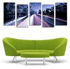 Cityscape with lighting road modern art high quality canvas print Framed wrapped