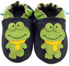 MINIFEET SOFT LEATHER BABY / PRAM SHOES 0-6,6-12,12-18,18-24 MTHS & 2-3 YRS FROG