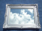 "FABULOUS EXTRA LARGE ORNATE MIRROR WITH 6"" WIDE FRAME - GOLD SILVER BLACK WHITE"