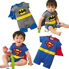 Superman Batman Baby Kids Toddler Boy Bodysuit Romper Jumpsuit One-Piece Costume
