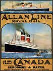 Canada Steam Boat Ship Emigration Travel Tourism Vintage Poster Repro FREE S/H