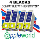 4 BLACK inks compatible with T007 cartridges [not original EPSON]