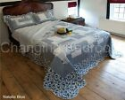 SUPERSOFT  NATALIE BLUE  BEDSPREAD & MATCHING PILLOWSHAMS  DOUBLE OR KING SIZE
