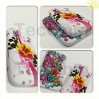 NEW STYLISH GRIP SERIES FLOWER CASE COVER FITS APPLE iPHONE 3 3G 3GS + FREE GIFT