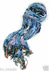GORGEOUS CRINKLY SOFT LADIES LONG SNUGGLY SOFT FASHION SCARF WITH TASSLES