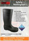 Blackrock Black Safety Wellington Boots Steel Toe Cap/ Midsole Work Wear Wellies