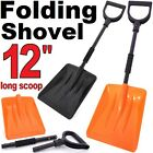 Heavy Duty Shovels Folding Metal Handle Car Van Ice Snow Portable Emergency Tool