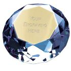 60mm Clear Glass Diamond Shaped Paperweight  + Option of Personalisation
