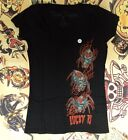 Lucky 13 Felon Sullen Hardnox Gothic Tattoo Womens Vneck Tee Creepy Crawlers