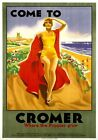 Come to Cromer, Where the Poppies Grow. LMS/LNER Travel Poster by Bruce Angrave