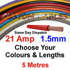 5m 1.5mm 21a 16 Awg 12v Auto Cable 21 Amp Car Wiring Loom Wire Automotive