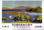 Tobermory Isle of Mull. LMS/LNER Vintage Travel Poster print by Norman Wilkinson