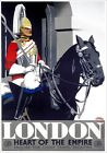 London - Heart of the Empire. GWR Vintage Travel Poster print by Frank Newbould