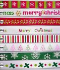 5 Metres Christmas Satin Ribbon 9mm (8 options U Pick) Craft Sewing Wrapping DIY