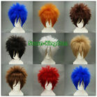 8 colors Fashion Heat Resistant Short Straight Cosplay wigs Costume Party wig