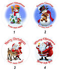 Personalised Edible Christmas Wafer Cake, Cupcake,Toppers, Father Xmas, Snowman,