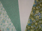Vintage Floral Polycotton Fabric Fat quarter Bundles 4 pieces £4. 50x55cms Craft