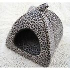 New Lepoard Pet Dog Cat Tent House Bed  3types Small, Medium, Large