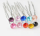 10/20pcs Colorful  Swarovski Crystal Bridal Prom Wedding Hair Pins Clips H034