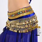 Belly Dance Costume Dancing Hip Scarf Wrap W Gold Coins