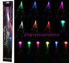 """2 pc LOT OF 14"""" LED FIBER OPTIC CLIP ON HAIR LIGHT PARTY LIGHTS UP EXTENSIONS"""