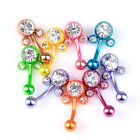 "10pcs Mixed Mickey""Mouse Belly""Bar Button Navel Ring crystal body Piercing"