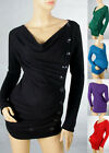 Pregnant Women Maternity Plunge Neck Buttons Pintuck Knit Top Shirt Free Ship158
