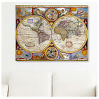 HUGE Canvas Old Vintage World Map photo decor art wall art poster print repro