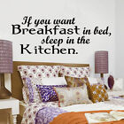 IF you want Breakfast kitchen,, wall art sticker quote  vinyl decor