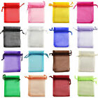 PACK OF 30/100 ORGANZA GIFT BAGS JEWELLERY PACKAGING POUCHES WEDDING PARTY