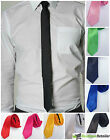Fashion Style Men's Plain Slim Narrow Arrow Necktie Skinny Tie Neckwear Ties