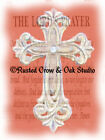 White Cross in the Lord's Prayer Original Signed Matted Picture Art Print  A334